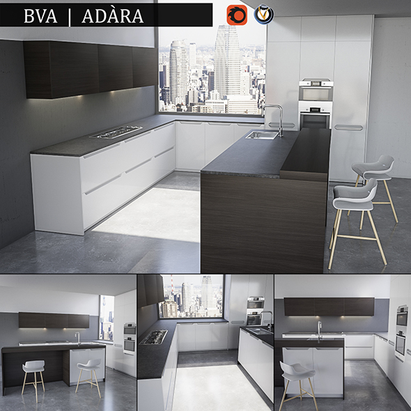 Kitchen BVA Adara - 3DOcean Item for Sale