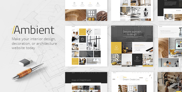 Ambient modern interior design and decoration theme by - Interior design portfolio samples ...