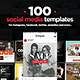 100 Social Media Templates - GraphicRiver Item for Sale