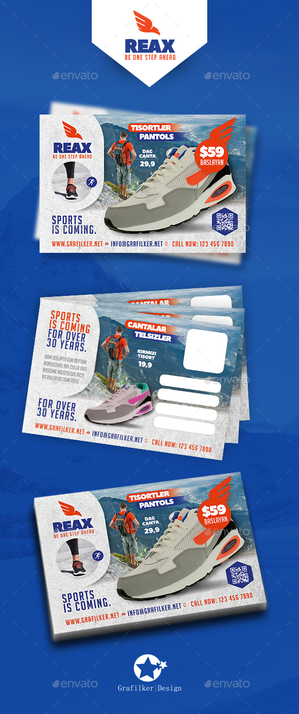 Sport Shop Postcard Templates - Cards & Invites Print Templates