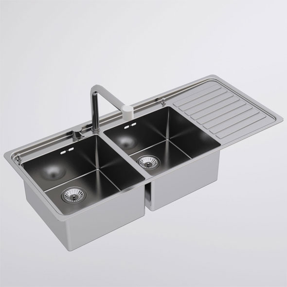 Alpes Inox Kitchen Sink - 3DOcean Item for Sale