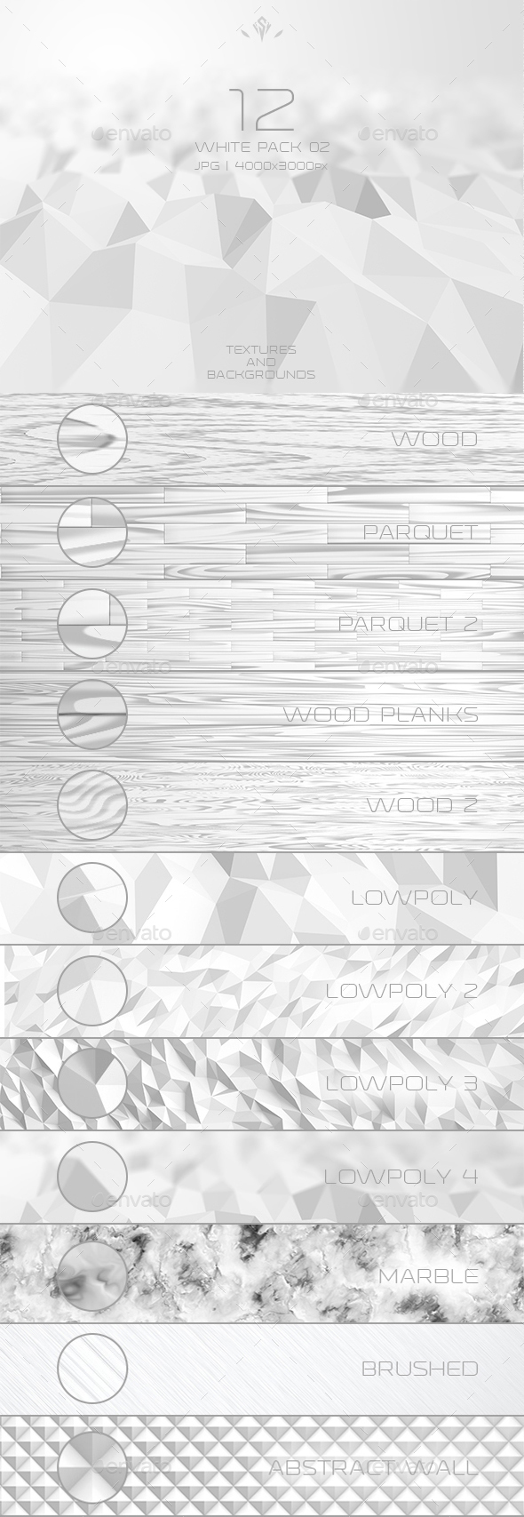 White Pack 02 12 Textures and Backgrounds - Abstract Backgrounds
