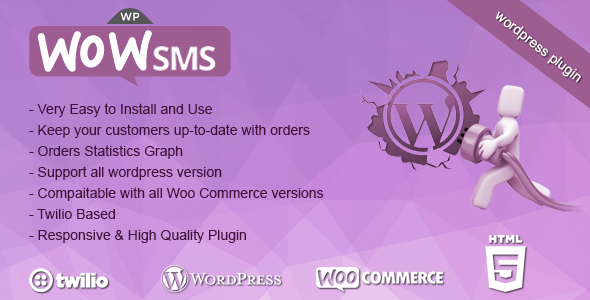 WP-WoW SMS - WooCommerce Wordpress Plugin - CodeCanyon Item for Sale