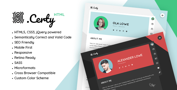 Certy – Online Resume / CV Template