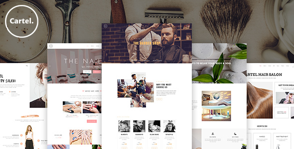 Cartel – Salon / Barber / Beauty eCommerce PSD Template