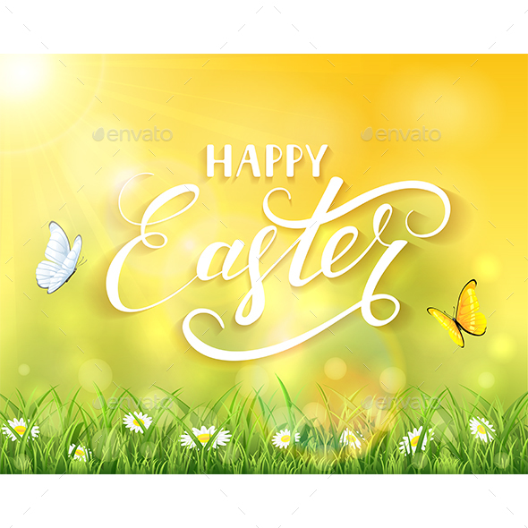 Easter Nature and Sun over Grass - Miscellaneous Seasons/Holidays