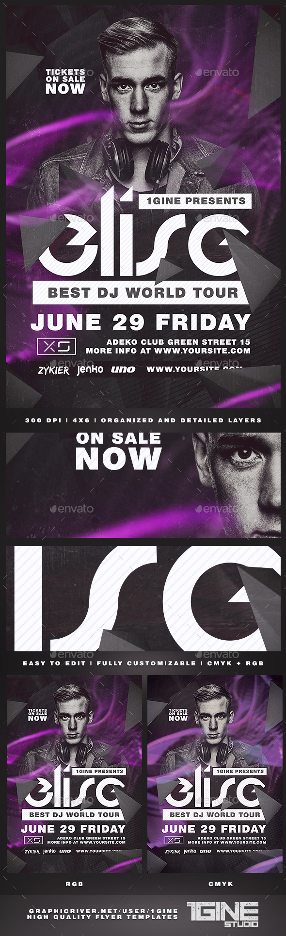Club DJ Flyer Template - Clubs & Parties Events