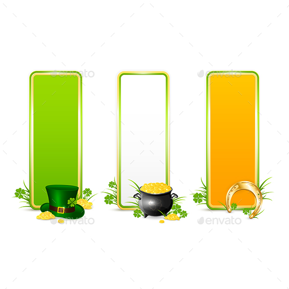 Three Patricks Day Color Banners - Miscellaneous Seasons/Holidays