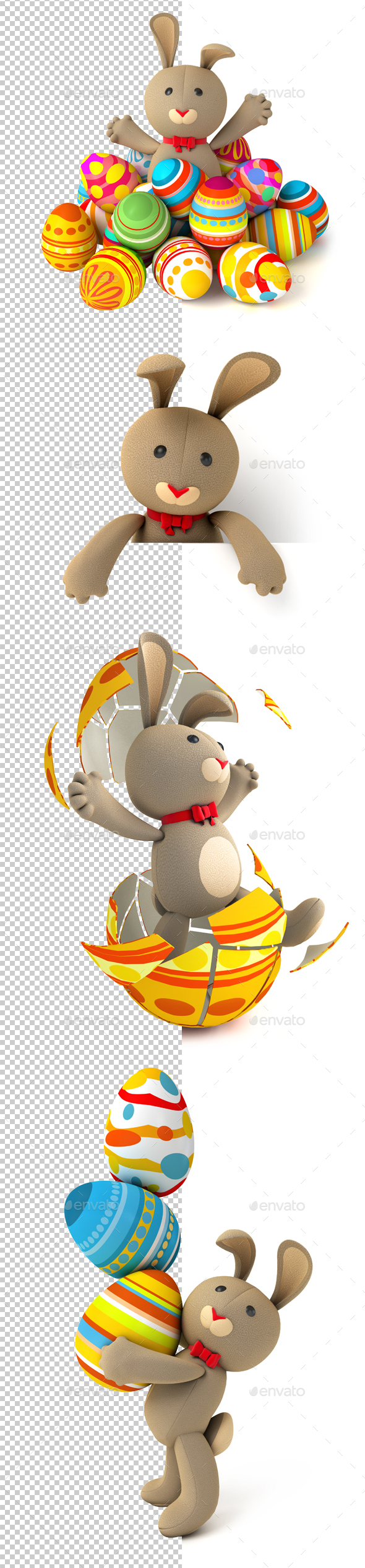 Easter Bunny - Characters 3D Renders