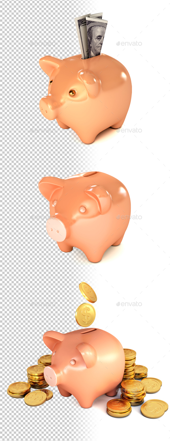 Piggy Bank - Business Illustrations