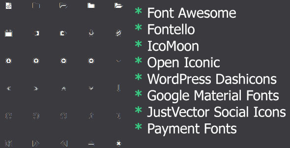 Awesome Icons -  insert and customize icon in post, page and menu - CodeCanyon Item for Sale