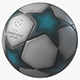 UEFA Champions League Ball 3D Model V2 - 3DOcean Item for Sale