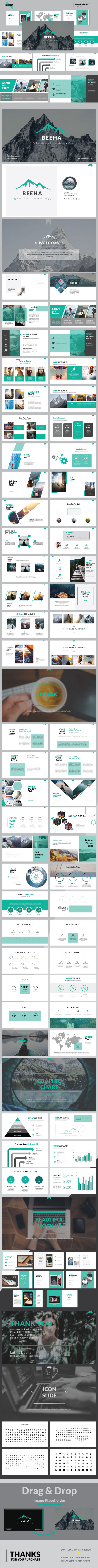 Beeha Multipurpose Presentation Templates - Business PowerPoint Templates