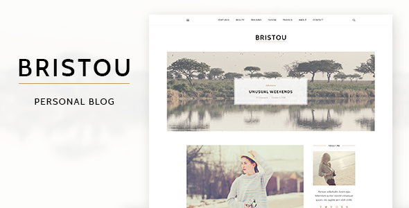 Bristou - WordPress Theme For Modern Bloggers - Personal Blog / Magazine