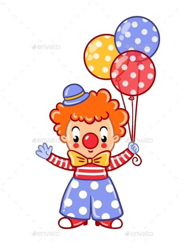 Circus Clown Illustration - Flowers & Plants Nature