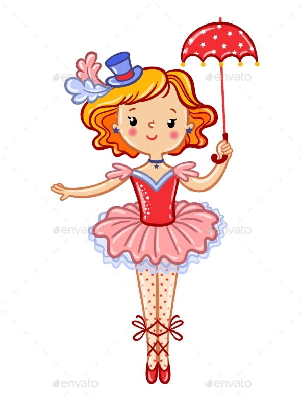 Circus Girl Illustration - People Characters
