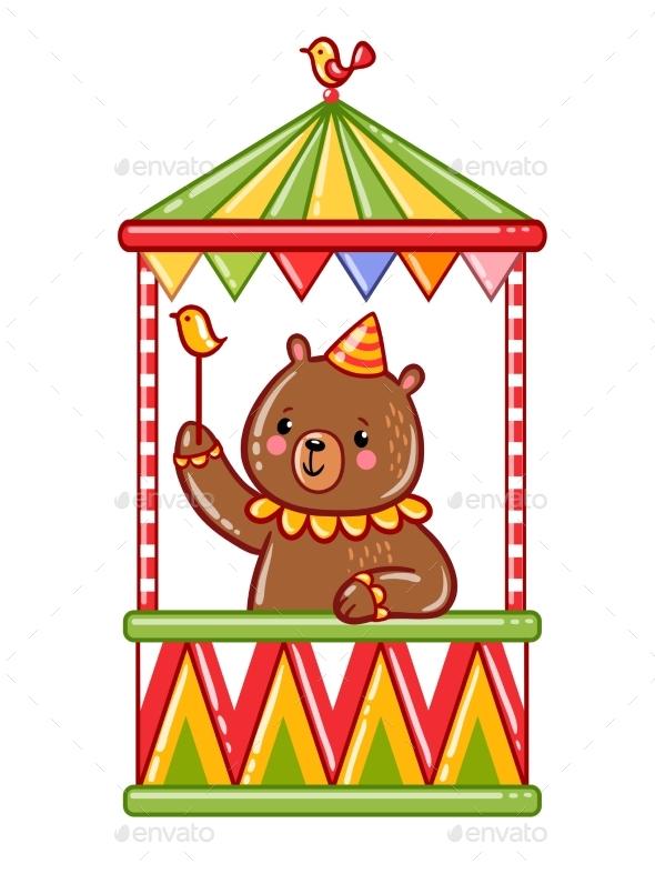 Circus Bear Illustration - Birthdays Seasons/Holidays