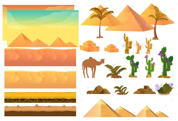 Desert Landscape Elements - Landscapes Nature