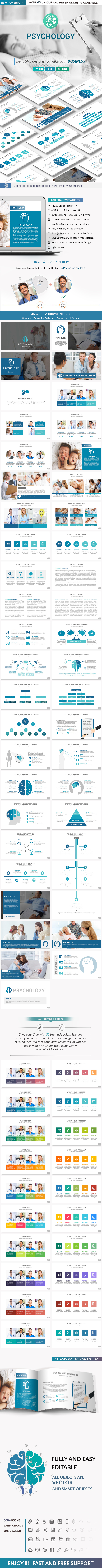 Psychology PowerPoint Presentation Template - Creative PowerPoint Templates