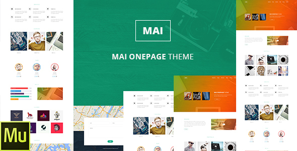 Mai | One Page Multi purposes Muse Template