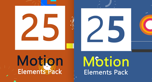 25 Motion Graphic Element Packs !!