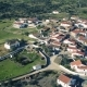 Aerial View Red Tiled Roofs Typical Village