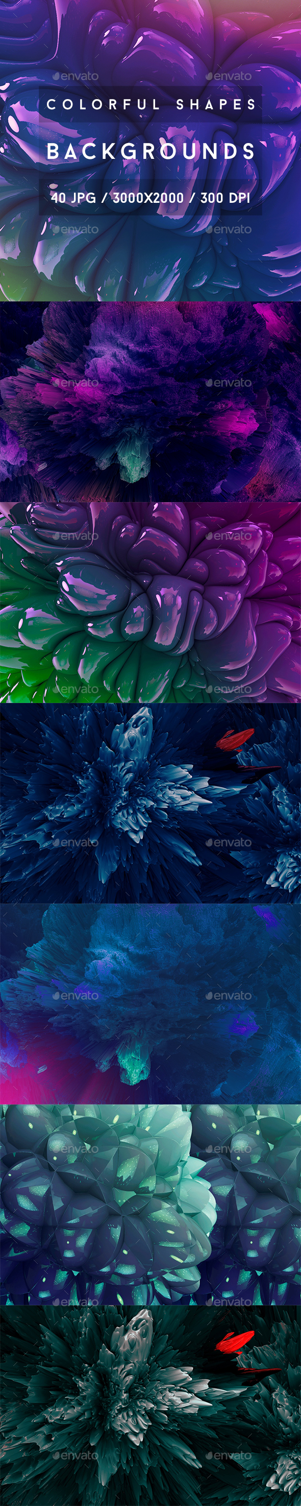 40 Colorful Shapes Backgrounds - Abstract Backgrounds