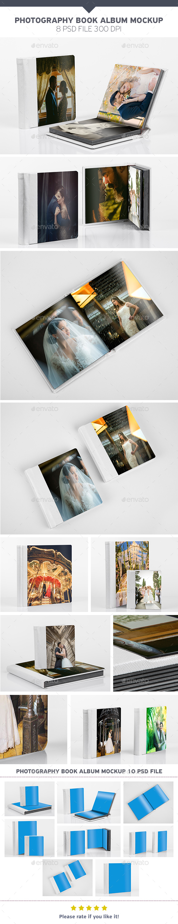 Photography Book Album Mockup - Product Mock-Ups Graphics