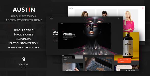 Unique Agency WordPress Theme - Austin - Portfolio Creative