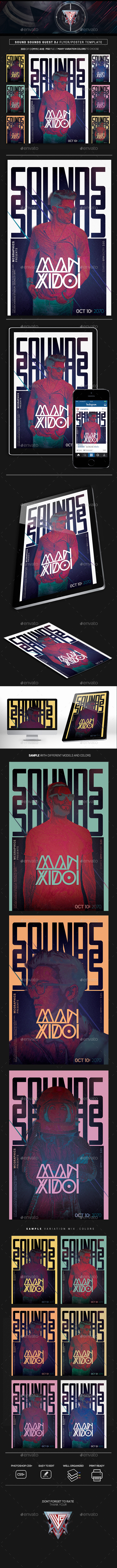 Sound Sounds Guest Dj Flyer/Poster Template - Events Flyers