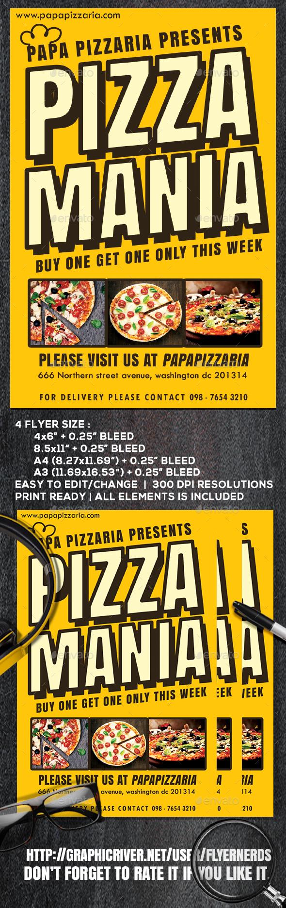Pizzaria Flyer - Restaurant Flyers