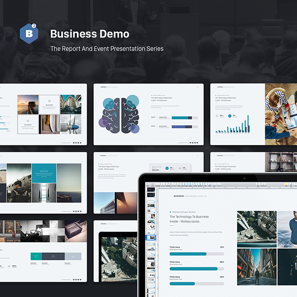 Business Powerpoint Theme (Event & Report Theme Series v2) - Business PowerPoint Templates