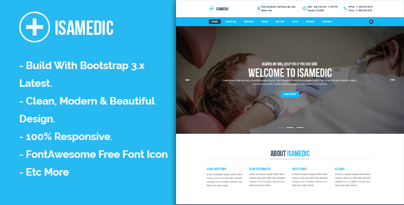 Isamedic – Template HTML