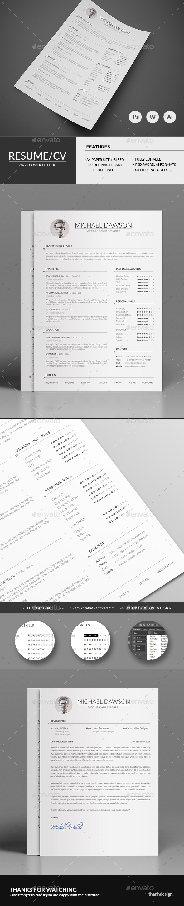 Resume CV & Cover Letter - Resumes Stationery