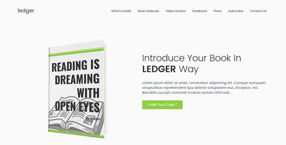 Ledger HTML5 Book Landing Page