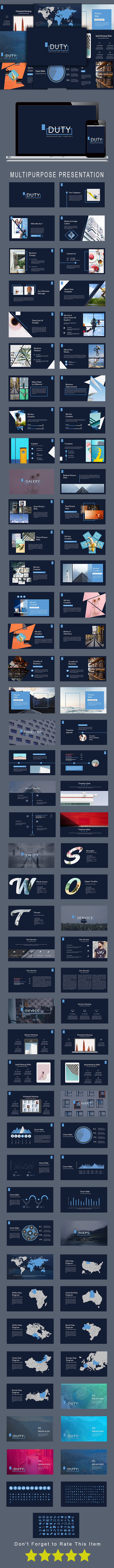 Duty Multipurpose Keynote Template - Keynote Templates Presentation Templates