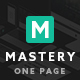 Mastery One Page - Creative WordPress Theme Builder - ThemeForest Item for Sale