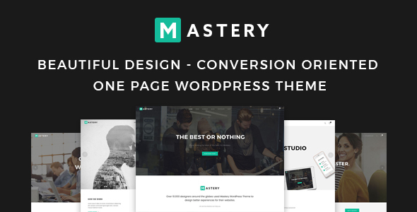 Mastery One Page – Creative WordPress Theme Builder