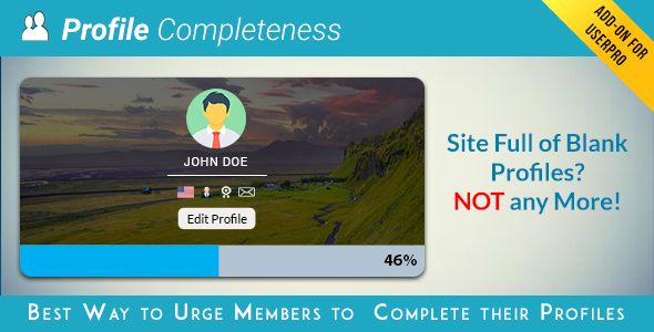 User profile Completeness Add-on for UserPro - CodeCanyon Item for Sale