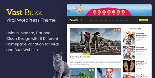 Vast Buzz – Viral & Buzz WordPress Theme
