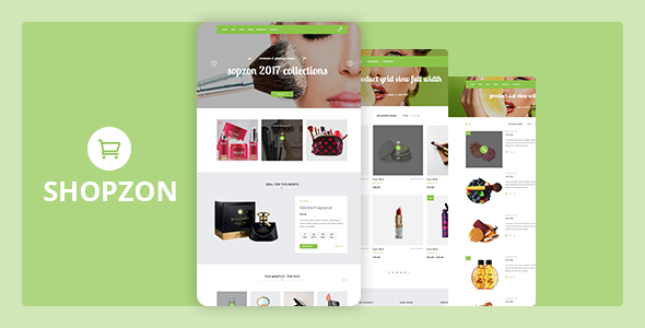 Shopzon - Cosmetics Store eCommerce Template - Health & Beauty Retail