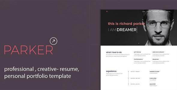 Parker – Professional CV / Resume / Personal Portfolio Template