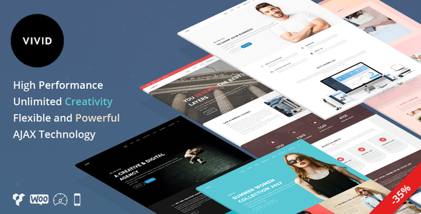 Vivid – Unique Multipurpose Theme For Creative Portfolio & Businesses