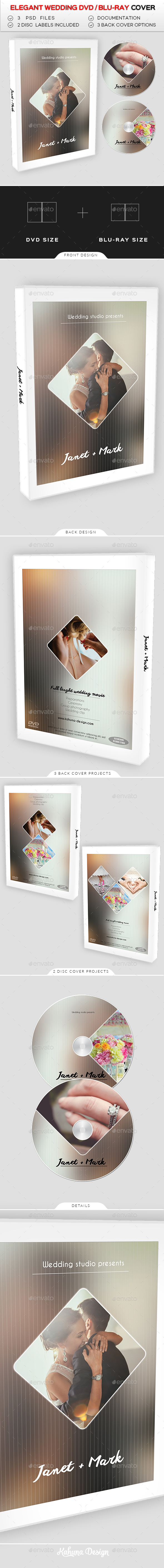 Wedding DVD / Blu Ray Cover 09 - CD & DVD Artwork Print Templates