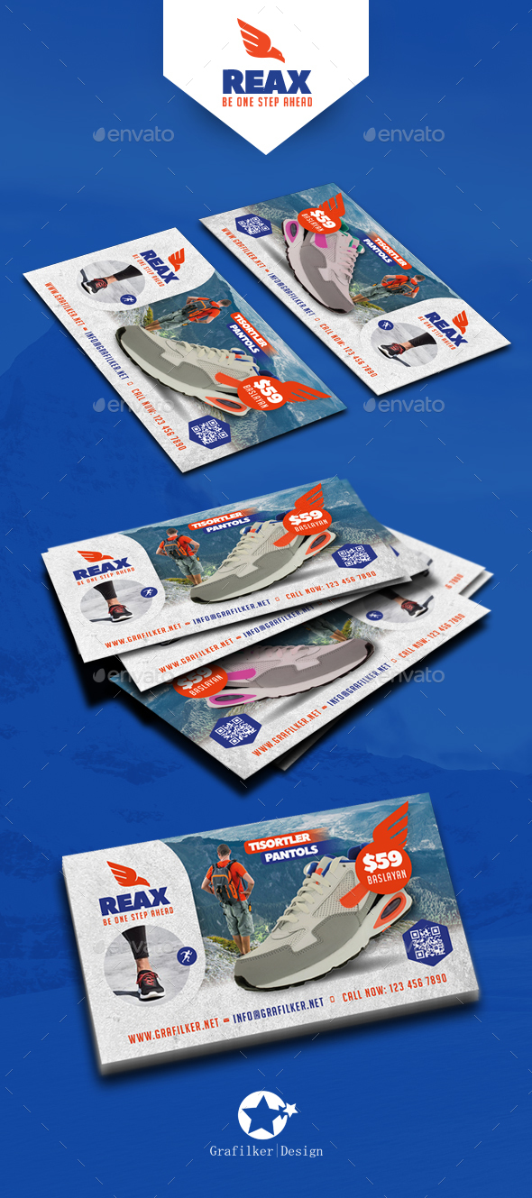 Sport Shop Business Card Templates - Corporate Business Cards