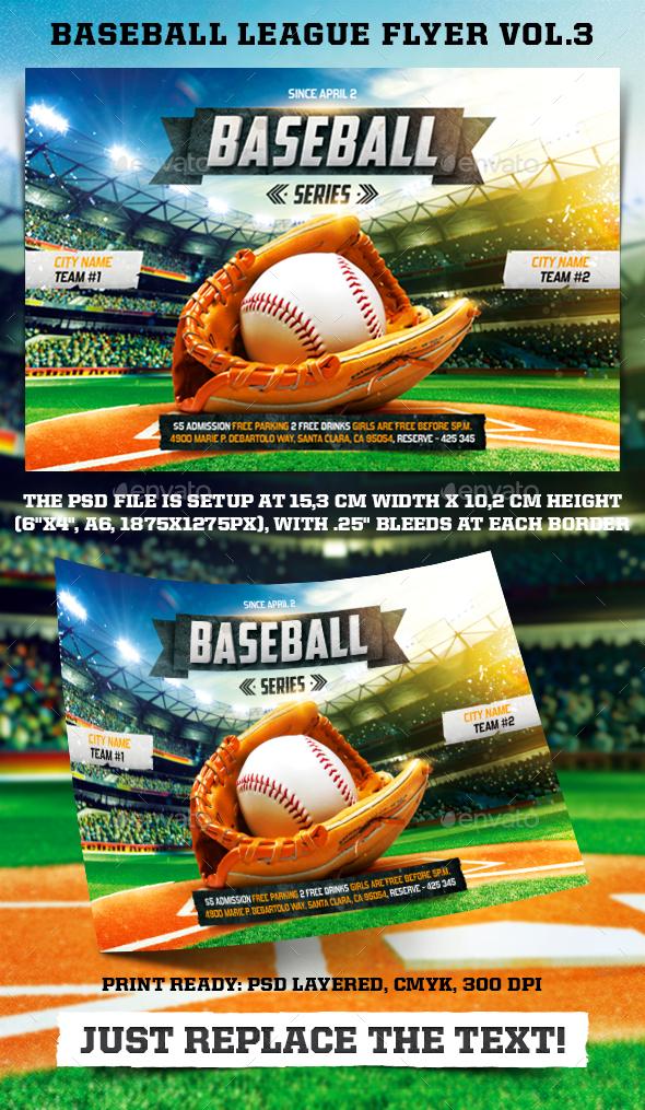 Baseball League Series Flyer vol.3 - Sports Events