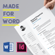 Light Resume Made for Word - GraphicRiver Item for Sale