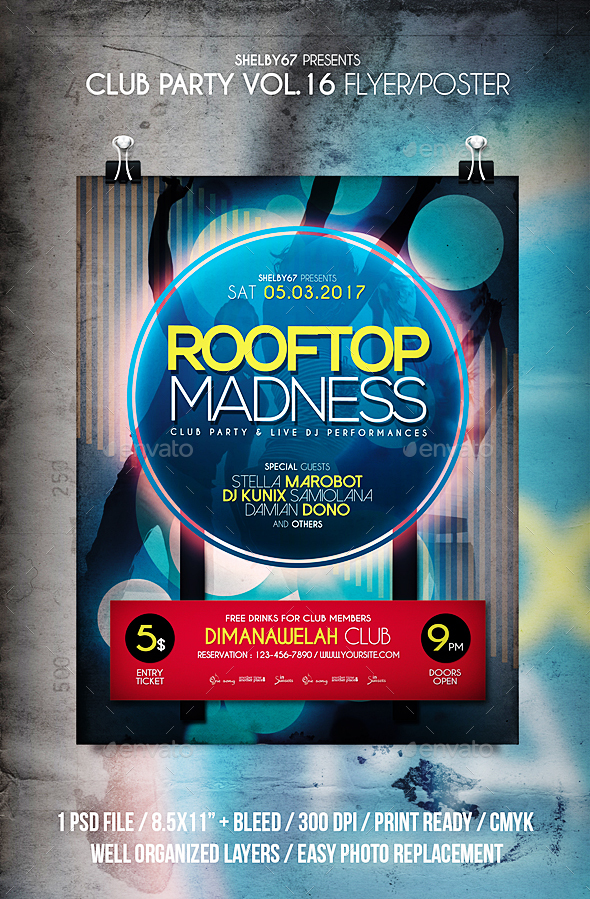 Club Party Flyer / Poster Vol 16 - Events Flyers