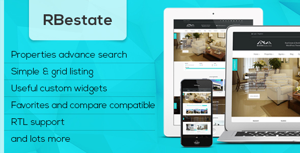 RBestate – Responsive  WordPress Real Estate Theme
