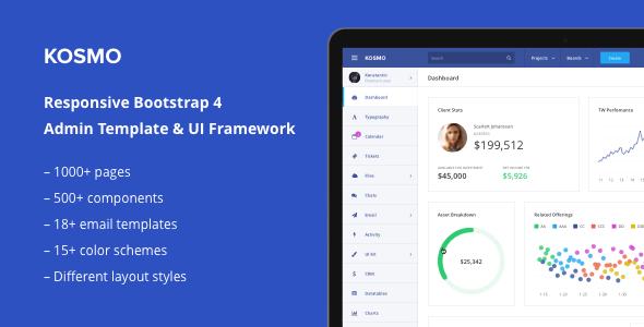Kosmo – Multi Purpose Responsive Bootstrap 4 Admin Template & UI Framework